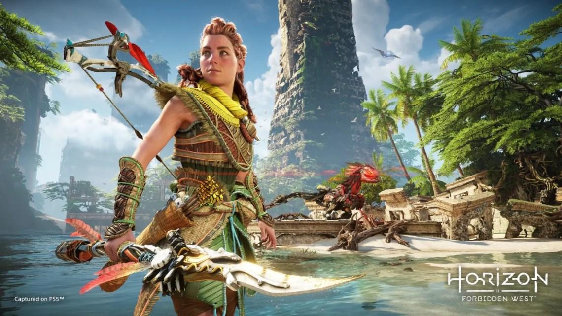 Horizon Forbidden West montre du gameplay