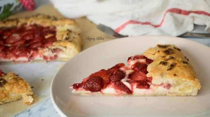 strawberry cheesecake galette