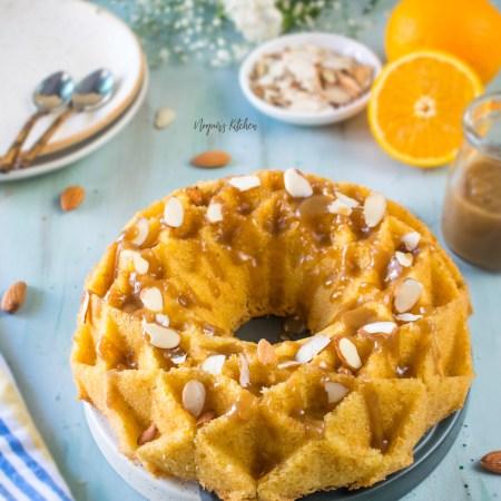 Almond Orange Caramel Bundt Cake