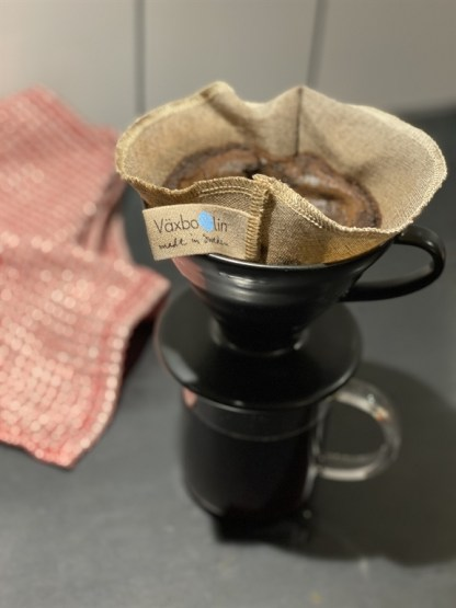 Eco Linnen Herbruikbaar Koffiefilter Made in Sweden