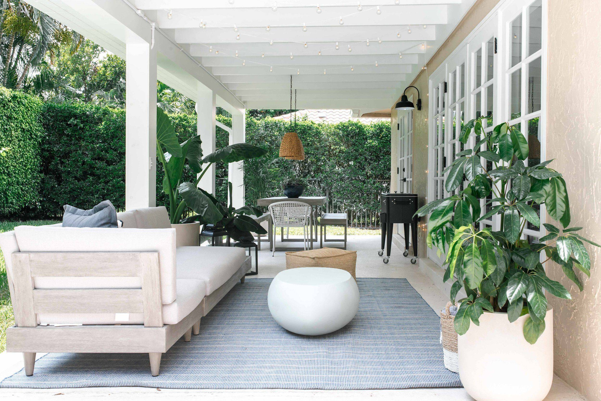Affordable Interior Design Miami Beautiful Modern Outdoor Living area Outdoor Dining area the