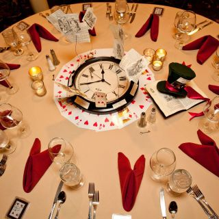 Alice In Wonderland Wedding Decorations Elegant Table Setting From the Alice In Wonderland Wedding at the