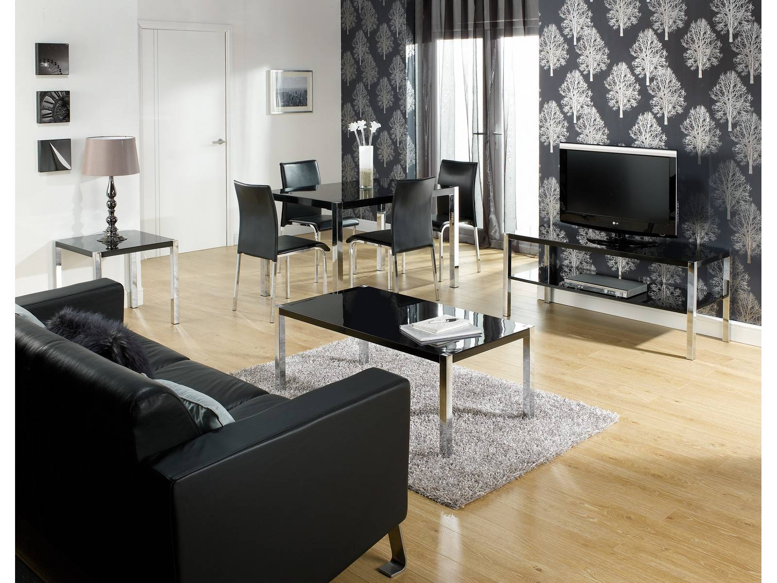 novello living and dining black