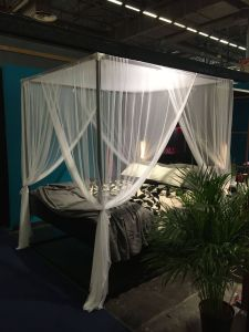 Canopy Bed Curtains New Bed Led Black with Mosquito Net Arianna