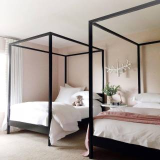 Canopy Bed Ideas Luxury Cabana Canopy Bed No Footboard In 2020