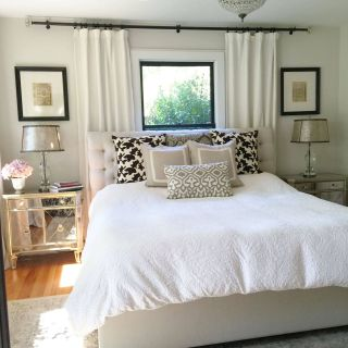 Canopy Curtains Lovely Neutral Bedroom Window Behind Bed Bedroom Window