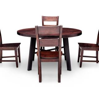 Dining Table and Chairs Fresh Nepali 5 Pc Round Dining Room Set