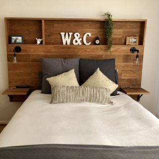 Diy Headboard Awesome Love This Wooden Headboard with Shelves My Husband Made for