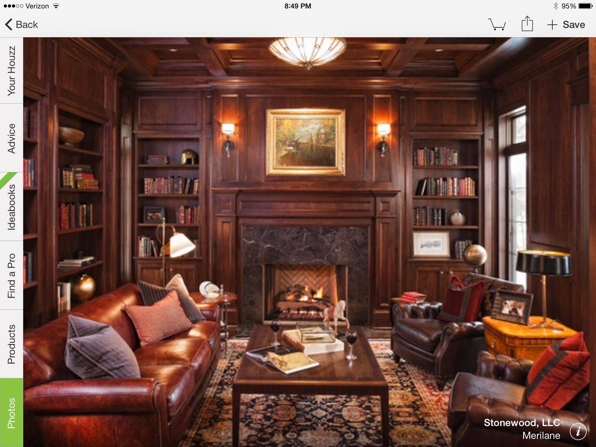 Home Library Ideas Awesome Pin by Kim Ryser House On House