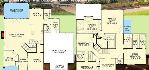 House Amenities Lovely Plan Vv Craftsman Keeper with Beds and Laundry