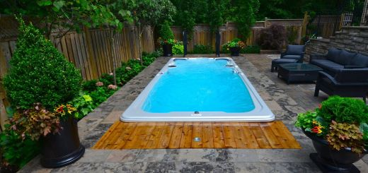 Luxury Above Ground Hot Tub Landscaping Fresh Hydropool Swim Spa Installed Into A Stone Deck Notice the