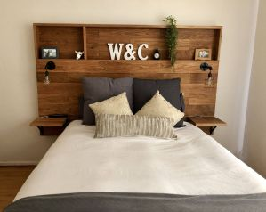 Modern Headboard Ideas Best Of Love This Wooden Headboard with Shelves My Husband Made for
