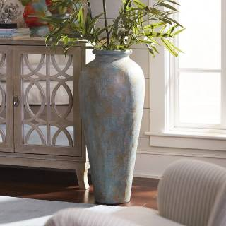 Oversized Floor Vases Inspirational Blue & Green Patina Urn Floor Vase