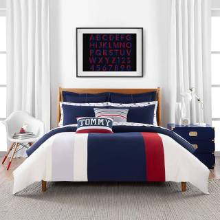 Twin Bedding Elegant tommy Hilfiger Clash Of 85 Stripe Duvet Cover Set Full Queen Multi