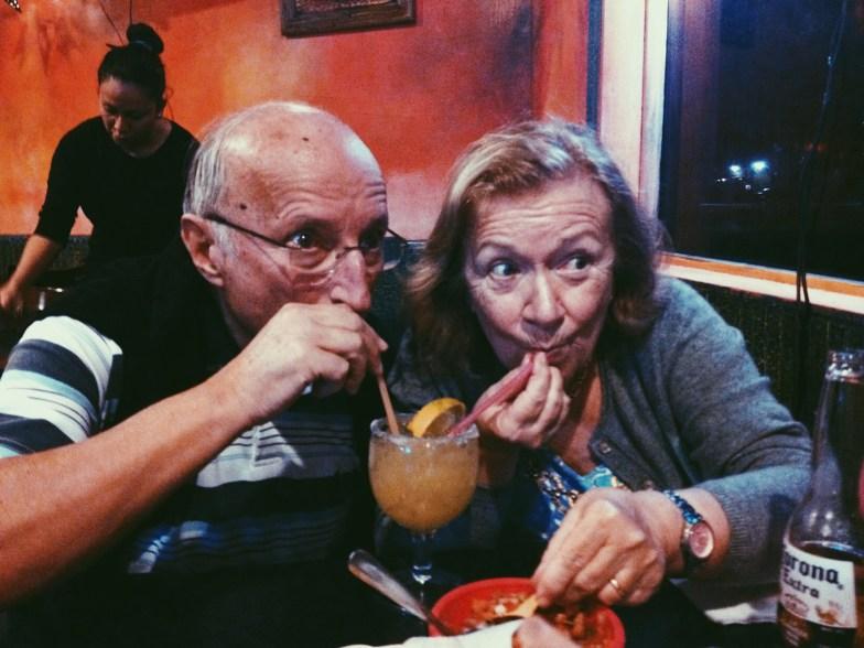 Drinking a Marguerita in Florida City