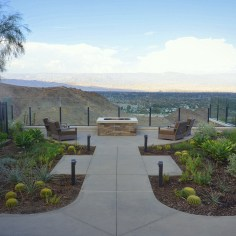 Fire Pit Seating Overlooking Valley