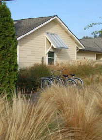 Cabins with bicycles