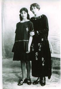 Noor and Ameena Begum, 1928, Suresnes, France.