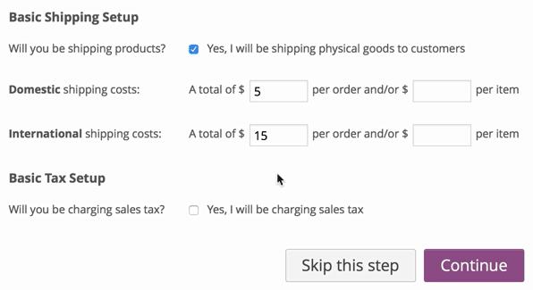 screenshot of WooCommerce base shipping setup screen