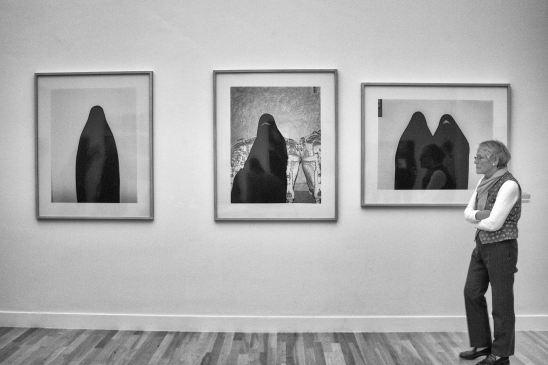Martine Stig (onherkenbaar in burka... nog steeds een portret?)