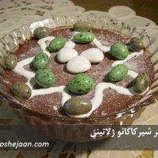 chocolate milk jelly dessert دسر شیرکاکائو ژلاتینی