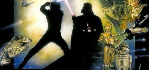 """Plakat von """"Star Wars: Episode VI - Die Rückkehr der Jedi-Ritter"""""""