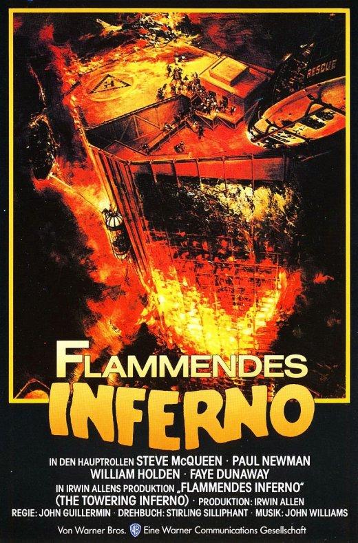 """Plakat von """"Flammendes Inferno"""""""