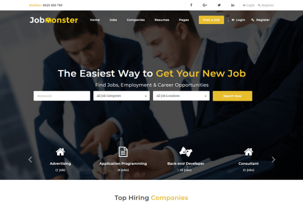 Jobmonster – Premium Job WordPress Theme