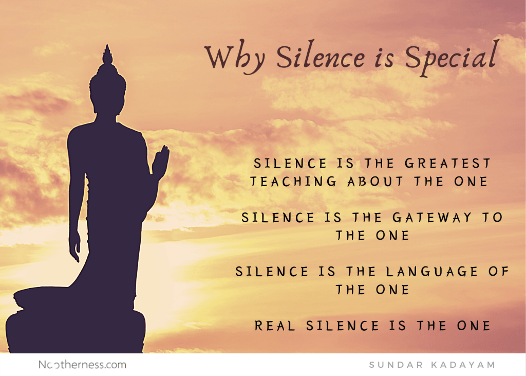 The secret of silence.