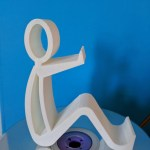 sitting man phone stand 3D print