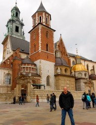 Nick in front of Wawel Cathedral