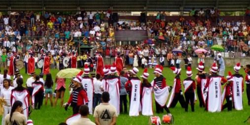 Honduran Independence Day - Waiting thier turn to perform - Utila