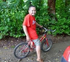 Our guide on the way to Pumpkin Beach - Utila,Honduras