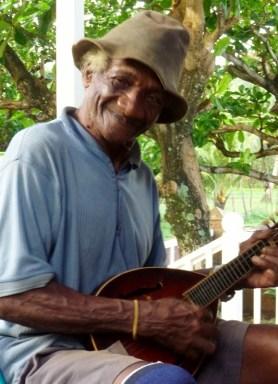 Willie strumming - Big Corn Island,Nicaragua
