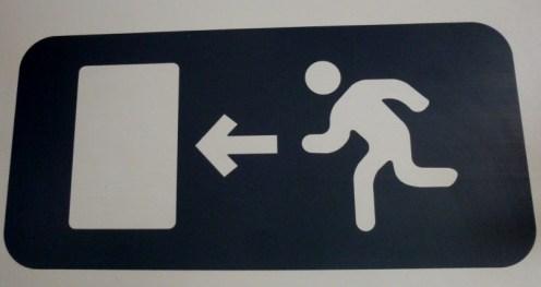 Run! (exit sign) Lima