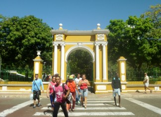 park entrance - Barrio Getsemani, Cartagena