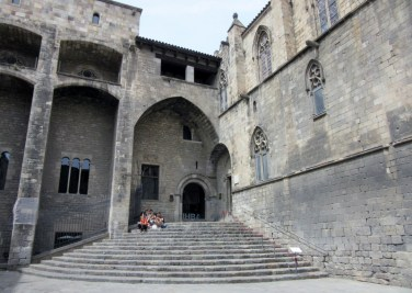 Museum of HIstory of Barcelona - the exit to the Gothic quarter - Barcelona, Spain