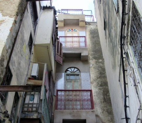 ancient buildings in old Medina of Fez, Morocco.