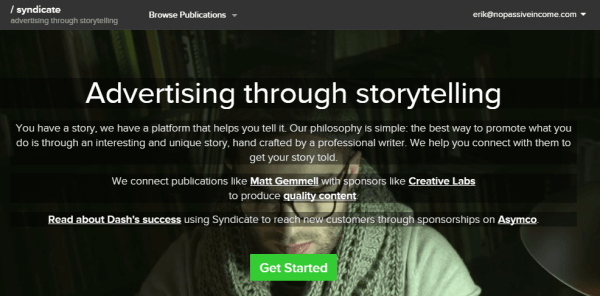 syndicate.net homepage screenshot