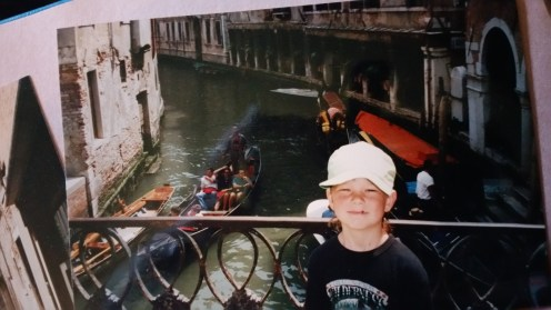 My brother, on a bridge, before we lost him.