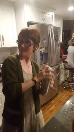 Cari, making a Boston sour