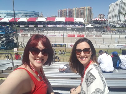 Kathleen and me at the races. I've known this girl for 20 years!!