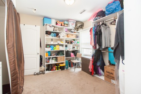 We cleared out space in our closet for them. And yes, they could go through ALL of our stuff, but who would spend the time?