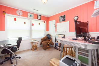 I loved my bright and cheery office.