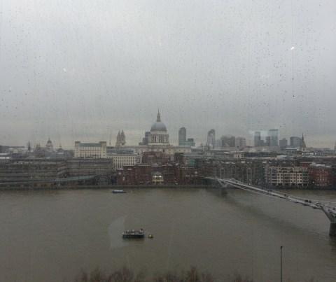 London from the Tate Modern restaurant.  Rain rain rain.