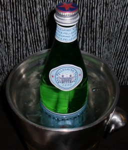 S. Pelligrino.  For free.  With bubbles and everything.
