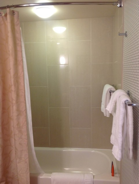 Uh oh, wrong kind of shower.