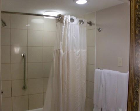 Plastic shower.