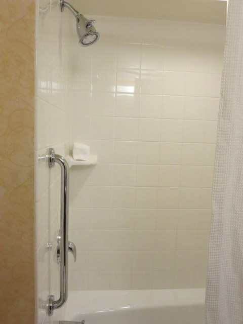 This is a plastic shower.  Bane of this blog's existence.