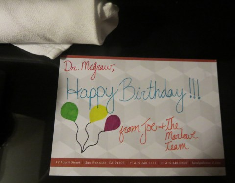 A note from Hotel Marlowe (Boston to San Francisco)